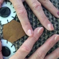 Warme herfst kleuren - Uil en parelmoer - Nails - Estetian